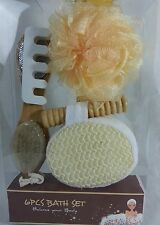 Naturals 5 Piece Bath Gift Set  – Spa Kit - Sponge