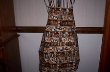 Handmade unisex Horses Western print cotton adult apron