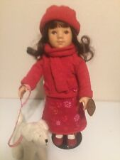 16�Gotz Puppe, Doll Made in Germany, Long Brown Hair And Eyes Retired Early 2000
