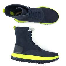 Under Armour UAS RLT Fat Tire Leather Boots Navy Blue Lime Green Men Size 9