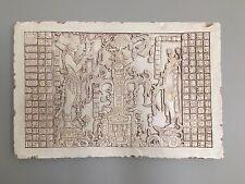 Palenque Maya Temple Sun Tablet Sculpture Relief Plaque Replica Reproduction