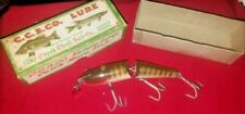 New listing Vintage Creek Chub 3 Hook Jointed Pikie Minnow In Box Excellent Cond.