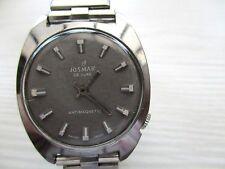 vintage mens josmar deluxe   mechanical watch, sold as is