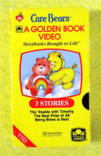 3 Tales From the Care Bears ~ VHS Movie ~ Vintage 1986 Golden Book Video Tape