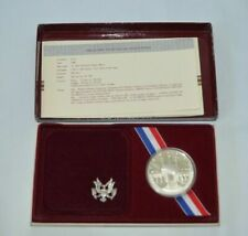 1984 olympic usa silver dollar proof set with certificate