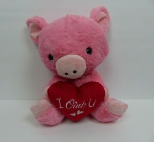 Dan Dee Collectors Choice Pink Pig I OINK YOU Plush Stuffed Animal Toy Red Heart