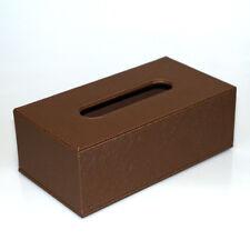 Kosmetiktuchbox Taschentuchbox PU-Leder braun Glitzer Tissuebox