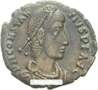 Vintage Ancient Roman Bronze Coin Constantius II AE3 Soldier spearing horseman C