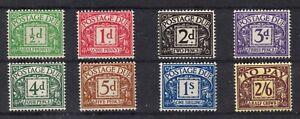 1937. D27-D34. Set x 8 Postage Dues. Fresh lightly mtd mint.