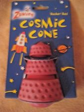 "Zanies 4"" Rocket Red Cosmic Cone Toy Dog Pet NWT"