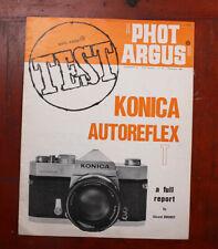 PHOT ARGUS KONICA AUTOREFLEX T TEST REPORT, NOV 1968/209680