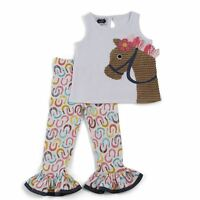 MUD PIE HORSE TUNIC AND LEGGING BABY AND TODDLER GIRLS 9-12M,12-18M,24M/2T,3T