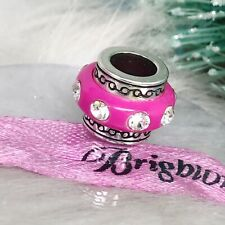 "Brighton ""ABC Dazzle Berry"" Hot Pink Swarovski Crystal Charm Spacer Bead"
