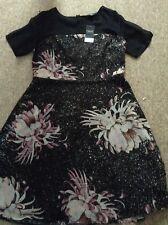 NEXT Dress Size 14 Black Floral
