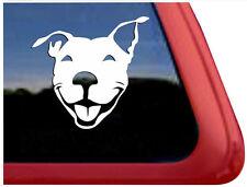 SMILING STAFFY Decal, Vinyl Drift Decal Car Window Sticker White