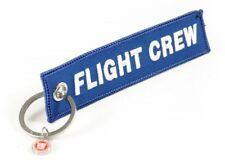 FLIGHT CREW - Schlüsselanhänger - BLAU mit weisser Schrift NEU