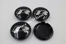 4PC Face 65mm Clip 56mm R Line Car Wheel Center Caps for VW Golf Polo Car Hubs