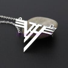 VH Charm Eddie Van Halen Logo Stainless Steel Pendant Necklace Music Jewelry