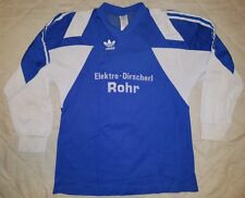 Adidas vintage football shirt jersey trikot 1980's-1990s L Blue Rohr Germany