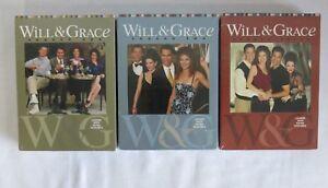 Will & Grace DVD Set Seasons 1-3 NEW Region 3