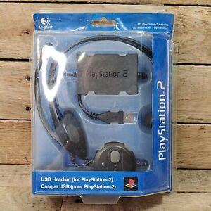 PLAYSTATION 2 PS2 HEADSET LOGITECH USB 2003 BRAND NEW SEALED