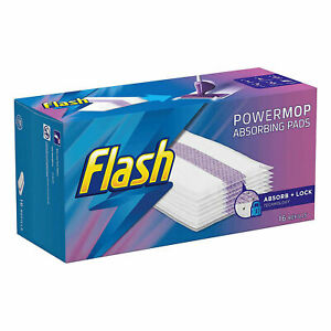 Flash Powermop Absorbing Pad Refills 16 Multi-Surface Pads for Any Type of Floor