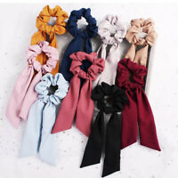 Long Streamers Hair Ring Ties Band Scrunchie Ponytail Holder Elastic Hairband AU