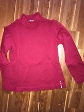 Monnalisa nylon Basic camisa rojo gran cuello manga larga camisa 8 años 128/116