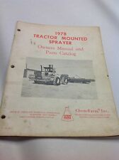 1978 Tractor Mounted Sprayer Owners Manual And Parts Catalog