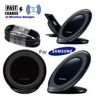 Fast Qi Wireless Charger Stand Dock Pad For Samsung Galaxy S7 S8 S9 Plus Note 9