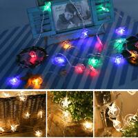 6.5M LED Solar Power Fairy Light String Lamp Moon &Star Party Home Decor Outdoor