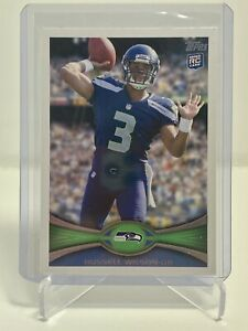 RUSSELL WILSON 2012 Topps Rookie Card RC #165 SEAHAWKS HOT Card 🔥🔥🔥🔥