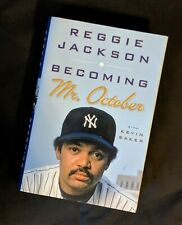"SIGNED 1st Edition ""Becoming Mr. October"" By REGGIE JACKSON Yankees AUTOGRAPHED"