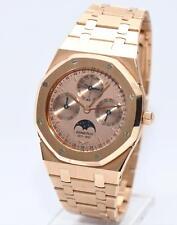 Audemars Piguet Royal Oak Gold Kalender Mondphase D68771 Papiere Box Limited ...