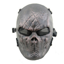 Airsoft Paintball Tactical Full Face Mask Combat Skull Game Protect Iron God