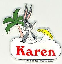 Bugs Bunny Name Magnet ~ Karen ~ Looney Tunes Collectible ~ Stocking Stuffer