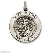 SMALL 925 Sterling Silver Saint St. Michael Police Vintage Charm Pendant Medal