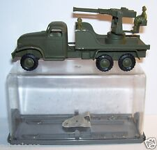 MILITARY 1959 GMC TRUCK MILITAIRE 6X6 MITRAILLEUSE DCA FRANCE JOUETS FJ 303 BOX