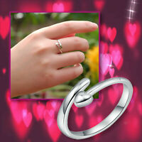 Meaningful Inspirational Love Heart Open 925 Sterling Silver Plated Open Ring