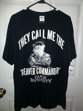 """Duck Dynasty """"They Call Me The Beaver Commander"""" T Shirt Size Large Nwt"""
