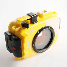60m Waterproof Diving Underwater Housing Case For Olympus TG3 TG4 Camera Yellow