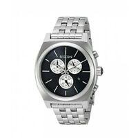 OROLOGIO Nixon Time Teller Chrono A9722348 watch acciaio Uomo Cronografo Nero