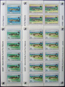 Romania 1994,WWF,Fish 4 M/Sh.MNH, RO 505