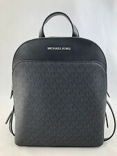 New Authentic  MK Michael Kors EMMY Large Dome Backpack Bag - PVC Black