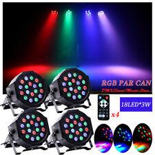 4X PAR Wash RGB 54W LED Light PAR64 DMX DJ Disco Stage Lighting DJ Party Lights
