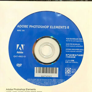 Adobe Photoshop Elements 8 for Mac OS X DVD with Serial Number