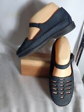 Dexter Navy Leather Mary Janes/Shoes, Womens 7W