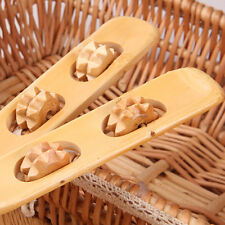 """18"""" Handy Bamboo Wooden Massager Back Scratcher Body Stick Roller Itch Relaxer H"""