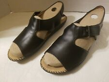 NEW NATURALIZER Womens Size 8 1/2 Black Casual Velcro Sandals