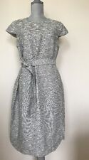 New J Crew Belted Tweed work office J.CREW Size 12 Ivory Multi E8495 Dress